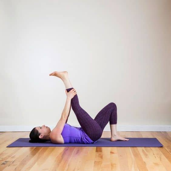 Leg and Knee to Chest Stretch