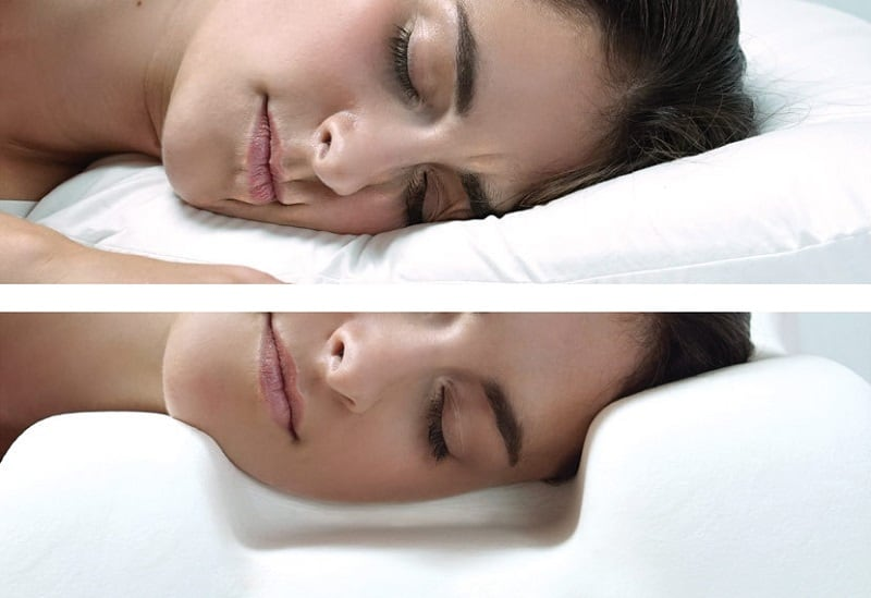 REgular pillow vs Sleep & Glow Pillow