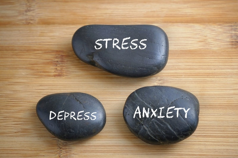 Stress, Depress and Anxiety, health conceptual