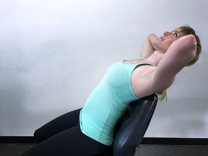 Thoracic Extension On Chair