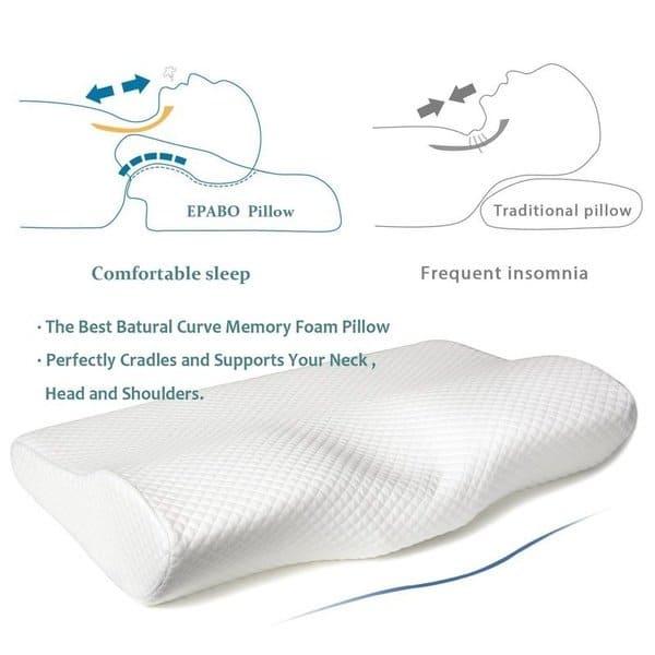 Slow Rebound Memory Foam Pillow Anti Snore Cervical Contour Pillow