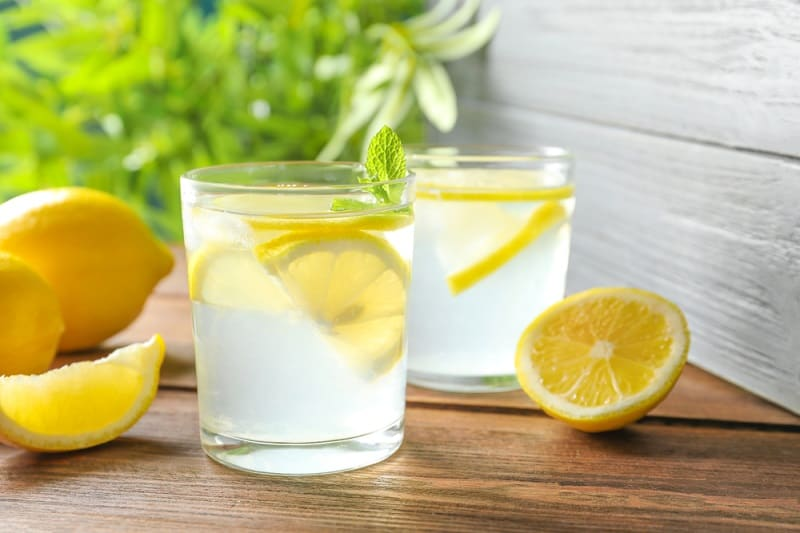 lemon juice water