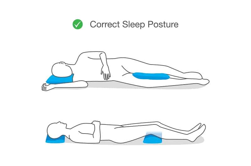 Correct posture while sleeping