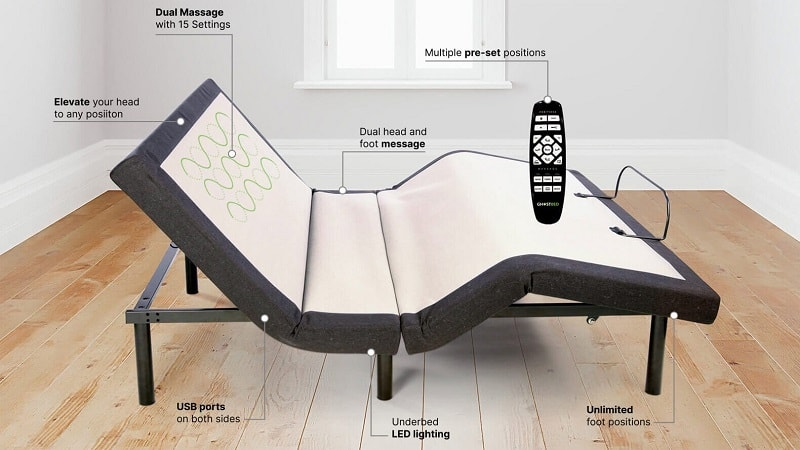 GhostBed Adjustable Bed Base
